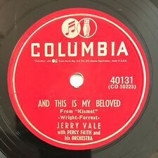 Jerry Vale ‎– And This Is My Beloved / Two Purple Shadows 78 RPM
