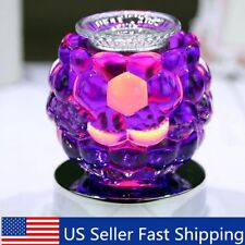 Purple Electric Scented Oil Warmer Lamp Wax Burner Bulb Fragrance Diffusers