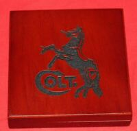 COLT Firearms Wood Medallion Challenge Coin Display Box