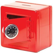 Metal Money Bank Combination Lock Box Safe Assorted Red or Black Colour