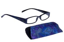 FOSTER GRANT READING GLASSES INDIGO +1.50,  FREE CASE **