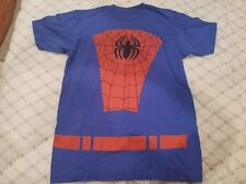 Marvel Spider-man t-shirt super hero cartoon  - medium EUC crew neck