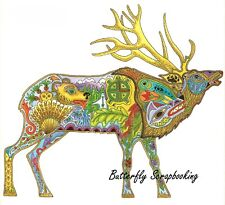 Bull ELK Animal Spirit Cling Unmounted Rubber Stamp EARTH ART Sue Coccia New