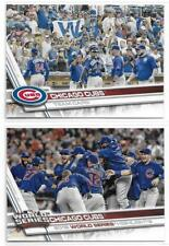 Lot (2) 2017 Topps CHICAGO CUBS TEAM & WORLD SERIES CHAMPIONS Cards