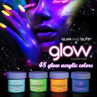 Glam and Glits GLOW ACRYLIC Glow in the Dark Nail Powder (GL) *Choose any one*