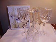4 FIFTH AVENUE Crystal PORTICO 10 oz Wine Goblets  NIB