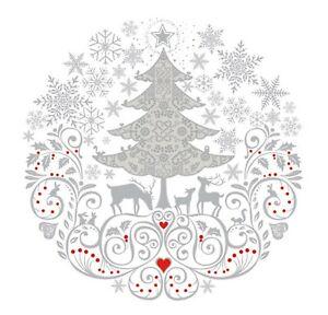 Napkins for Decoupage Christmas LUXURY Decorations Folk 33x33cm 3PLY 20 Pack