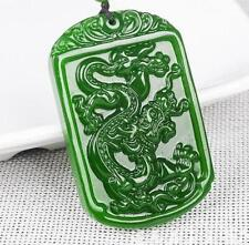 2017 new China hand-carved Green jade dragon jade pendant Necklace Amulet