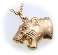 Neu Anhänger Panther echt Gold 333 Raubkatze Jaguar Gepard Gelbgold Unisex Löwe