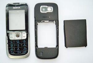 Silver Black Housing cover fascia facia case faceplate for Nokia 2630