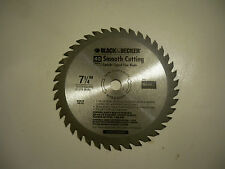 "7-1/4"" BLACK & DECKER 40 CARBIDE TEETH  SAW BLADE   MADE IN THE UK"