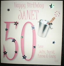 PERSONALISED HANDMADE BIRTHDAY CARD 18TH 21ST 30TH 40TH 50TH 60TH 70TH 80TH 90Th