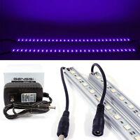 2x Ultraviolet UV 12V Black Light LED Strip Bar Tube 5050 SMD Purple Waterproof