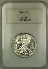 1940 Walking Liberty Silver Half Dollar Coin Old NGC Raised Logo PF-66 GEM Proof