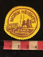 Vtg 1970 MORIN HEIGHTS CAMP REUNION Girl Scouts / Girl Guides Canada Patch 86WZ