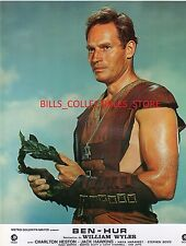 "6 Charlton Heston Ben-Hur French 9x12"" Lobby Cards"