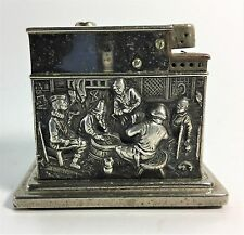 Vintage Dutch Repousse .835 Silver Mylflam Table Lighter