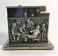 Vintage Dutch Repousse .835 Silver Mylflam Table Lighter
