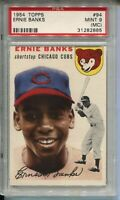 1954 '54 Topps Baseball #94 Ernie Banks Rookie Card RC Graded PSA MINT 9 MC