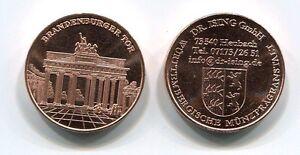 German Brandenburg Gate Advertising Medal Token version b