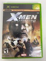 X-Men Legends II: Rise of Apocalypse (Microsoft Xbox, 2005) Complete Marvel