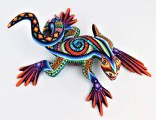 Oaxacan Wood Carving Magaly Fuentes Lizard Oaxaca Mexico Fine Folk Art Alebrije