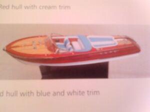 bateau riva  bois 65 cm environ