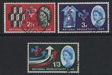 1962 2½d-1/3 NPY (P) SET SUPERB USED. SG 631p-3p