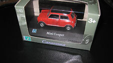 CARARAMA  MINI COOPER RED  WITH BLACK ROOF OPENING DOORS  1/43 DIECAST