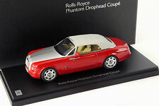 Rolls Royce Phantom Drophead Coupe Baujahr 2012 ensign rot 1:43 Kyosho