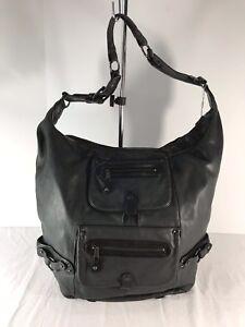 MCB BY MALENE BIRGER Grey and Black Leather Shoulder Bag