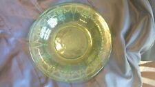 "Green Depression Glass Hocking Cameo 9"" Rimmed Soup Bowl HTF"