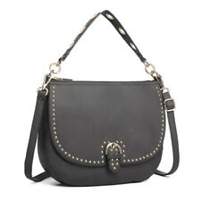 Faux Leather Studded Large Hobo Bag Ladies DESIGNER Shoulder Handbag Messenger