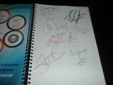 Country Music Cruise 2014 itenerary with 7 autographs/signatures