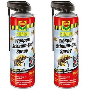 2 x COMPO Wespen Schaum-Gel Spray Wespenabwehr, 500 ml