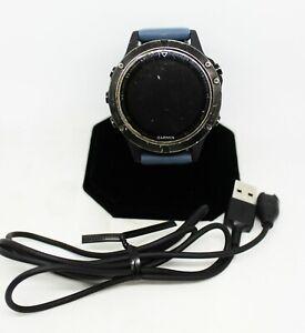 Garmin Fenix5 Waterproof Smartwatch Sapphire Crystal Face Silver W/Graphite Band