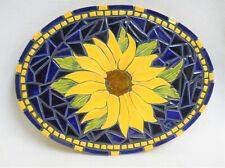 "Sunflower Mosaic Wall Art, Handmade Ceramic Tile Mosaic Decor /Trivet 13"" x10"""