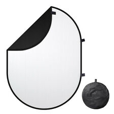 6.5 x 4.7Ft 2 Side Black White Backdrop Pop Up Photography Screen Panel Portable