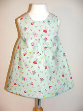 Little Kitten & Rabbits Fabric 6-12 Months 'Simply Awesome' Handmade Dress