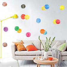 29 Aufkleber bunte Punkte DIY Wandtattoo Deko farb Klekse Kreise Pinsel Sticker