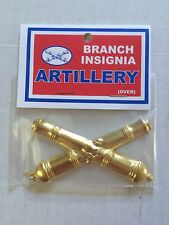 CIVIL WAR Brass ARTILLERY CANON Hat Badge/Pin/Ornament /Insignia Repo PBAG 1624