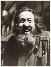 Photo Gaston Paris - Michel Simon - Tirage argentique d'époque 1955 -