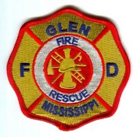 Glen Fire Rescue Department Dept FD EMS Patch Mississippi MS Patches NEW - SKU28