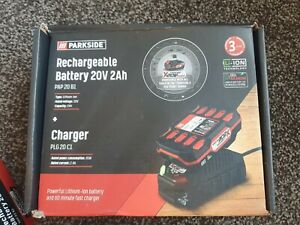 PARKSIDE 20V 2Ah Rechargeable Battery PAP 20 B1 with Charger PLG 20 C1