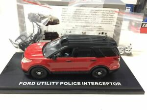First Response Replicas Ford Utility police Interceptor Red/Black 1/43 Scale Car