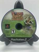 Worms Forts Under Siege PS2 Disc Only Tested Sony PlayStation 2 Ps2 Game Good
