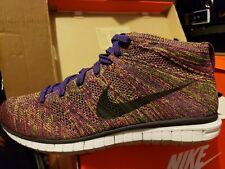 Mens Nike Free Flyknit Chukka Grand Purple Fireberry 639700-501 SZ 11