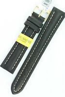 MORELLATO Uhrenarmband 18mm weiches Kalbsleder Schwarz Water resistant