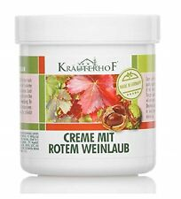 Krauterhof Foot Cream with Horse Chestnut and Red Vine Leaves for Varicose Veins