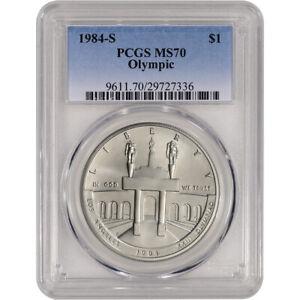 1984-S US Olympic Commemorative BU Silver Dollar - PCGS MS70